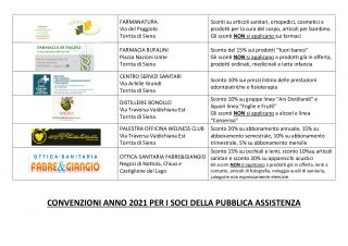 Convenzioni Soci 2021